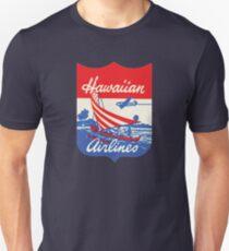 Vintage Hawaiian Airlines 00450 Slim Fit T-Shirt