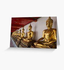 Wat Pho, Bangkok, Thailand Greeting Card