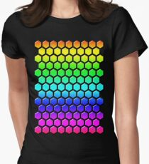 Rainbow Honeycomb Women's Fitted T-Shirt