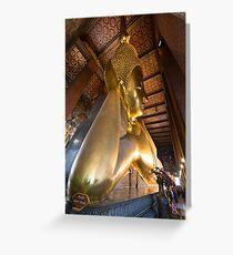 Reclining Buddha, Wat Pho, Bangkok, Thailand Greeting Card