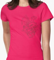 The Fire Heart Womens Fitted T-Shirt