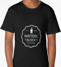Writers Block - Distressed Text Long T-Shirt