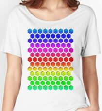 Rainbow Honeycomb Women's Relaxed Fit T-Shirt