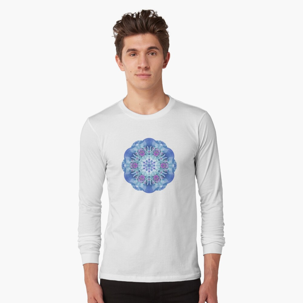 Royal Blue and Purple Mandala Long Sleeve T-Shirt