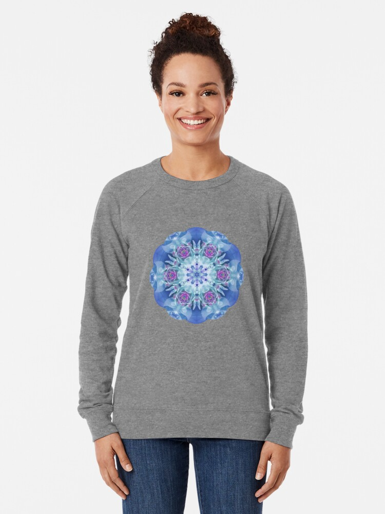 Alternate view of Royal Blue and Purple Mandala Lightweight Sweatshirt