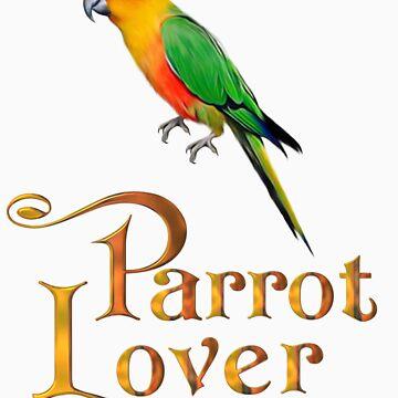 Parrot lover by Kallbo