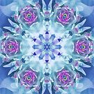 Royal Blue and Purple Mandala by Kelly Dietrich