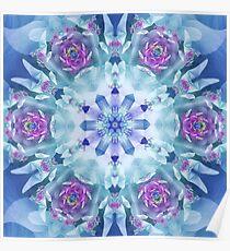 Royal Blue and Purple Mandala Poster