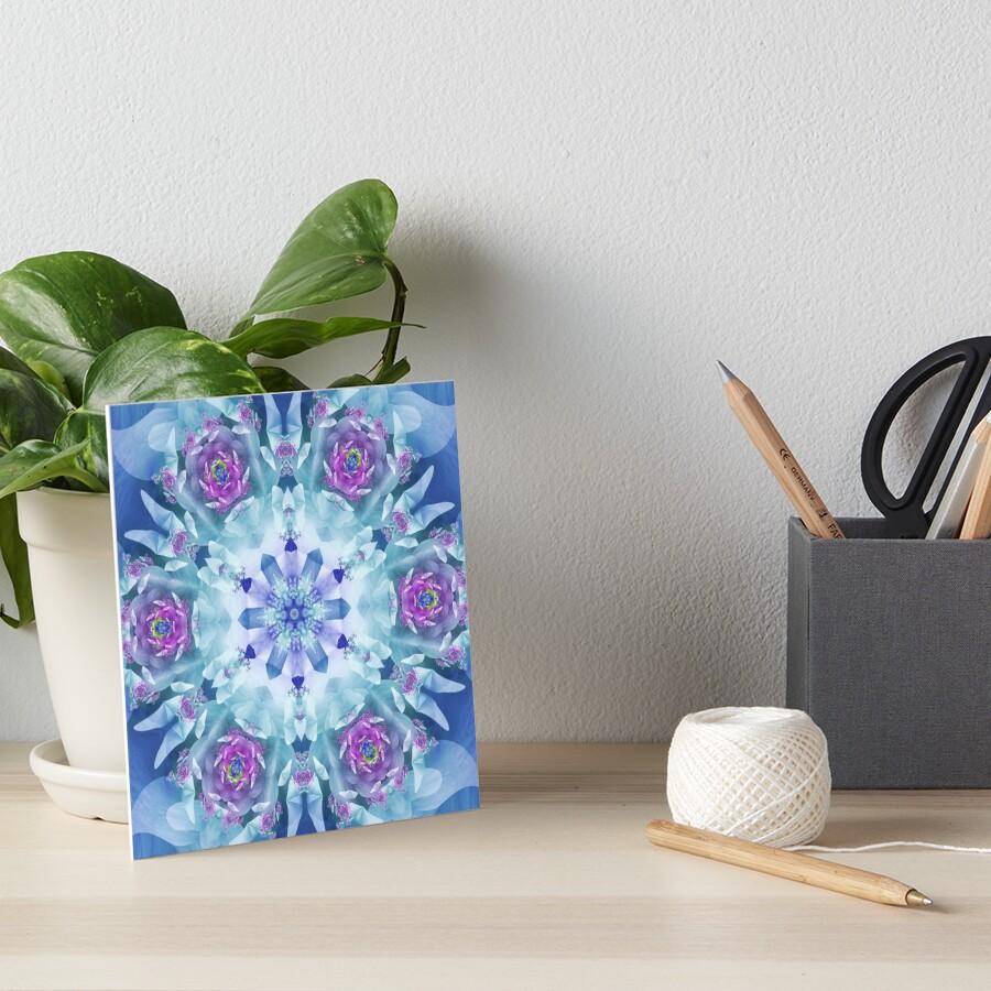 Royal Blue and Purple Mandala Art Board Print
