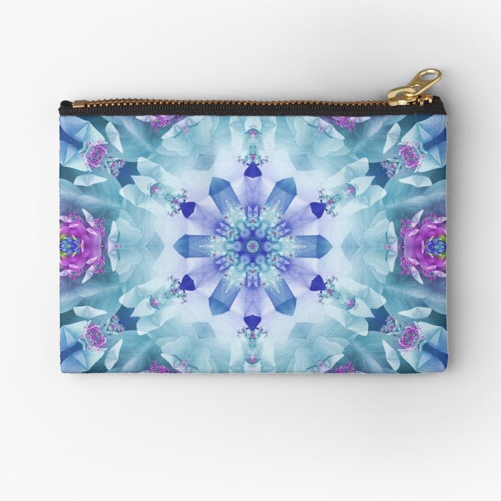 Royal Blue and Purple Mandala Zipper Pouch