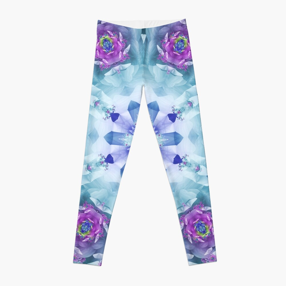 Royal Blue and Purple Mandala Leggings