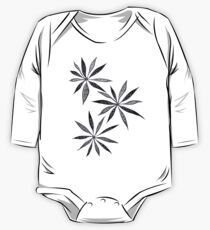 Elegant Thin Flowers With Dots And Swirls One Piece - Long Sleeve