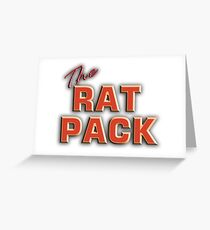 The Rat Pack, Singers, Music, Crooners, Frank Sinatra, Sammy Davis, Dean Martin. STACK, on White Greeting Card
