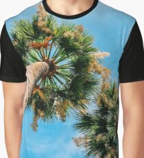 Green Palm Trees On Blue Sky Graphic T-Shirt