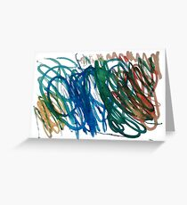 Colour Spirals by Chris Greeting Card