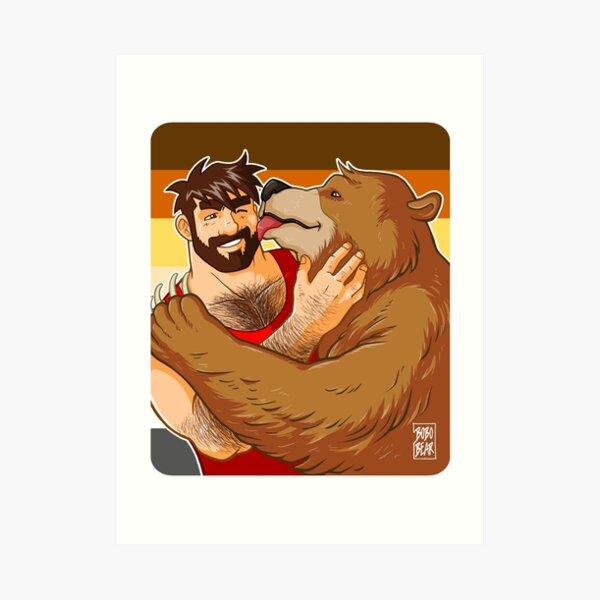 BEAR KISS - BEAR PRIDE Art Print