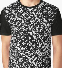 Black and White Seamless Pattern Graphic T-Shirt