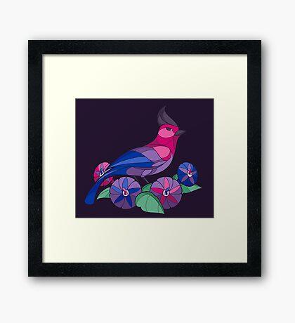 Pride Birds - Bisexual Framed Print
