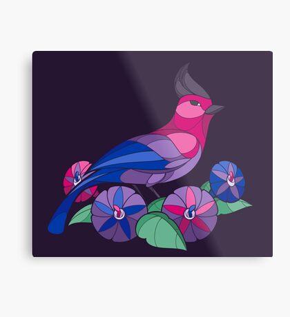 Pride Birds - Bisexual Metal Print