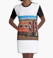 Morning Train Graphic T-Shirt Dress