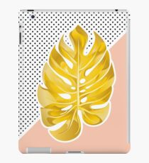Monstera gold iPad Case/Skin