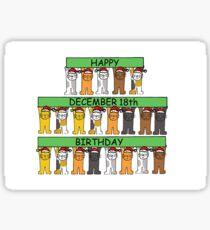 December 18th Birthday Cats Sticker