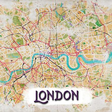 Watercolor Map of London by madday