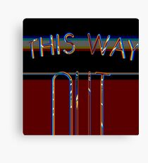 out this way III Canvas Print