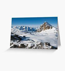 Alpine snowy peaks, France, Europe Greeting Card