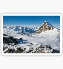 Alpine snowy peaks, France, Europe Sticker