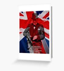 Winston Churchill Democracy Quote Greeting Card
