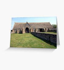 Middle Littleton Tithe Barn Greeting Card