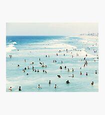 Lámina fotográfica Costera, arte de playa, agua azul, mar, océano