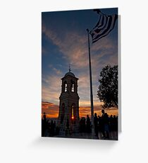 Sunset at Lycabettus hill, Athens Greeting Card