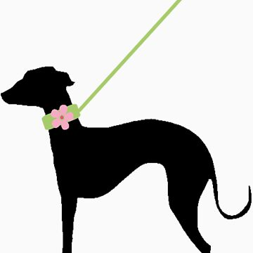 Italian Greyhound Pink Flower by blackjack