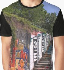 Wild Mess At Donaukanal, Vienna Austria Graphic T-Shirt