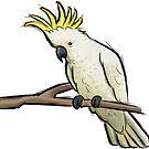 Sketchy Cockatoo by Mariewsart