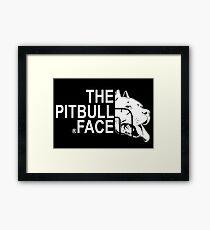 THE PITBULL FACE Framed Print