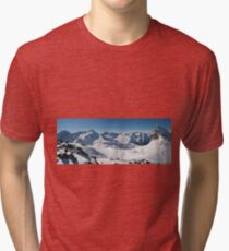 Snowy Peaks of French Alps Tri-blend T-Shirt