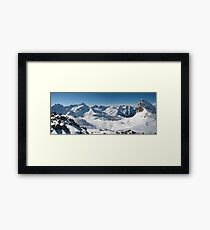 Snowy Peaks of French Alps Framed Print