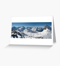 Snowy Peaks of French Alps Greeting Card