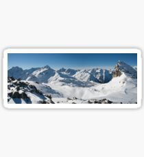 Snowy Peaks of French Alps Sticker