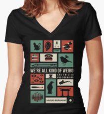 Haruki Murakami Women's Fitted V-Neck T-Shirt