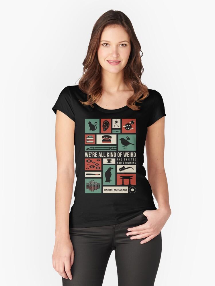 Haruki Murakami Women's Fitted Scoop T-Shirt Front