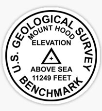 Mount Hood, Oregon USGS Style Benchmark Sticker