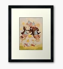 Independence bears Framed Print