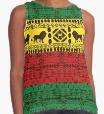 Blusa sin mangas Rasta africano tradicional de los leones del modelo