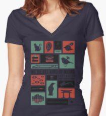 Murakami Women's Fitted V-Neck T-Shirt