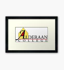 Alderaan College Framed Print