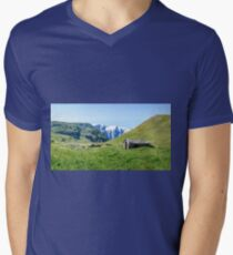 Stone hut in the Alps Mens V-Neck T-Shirt